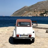 A classic Citroen DC waiting for the ferry.
