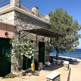 A small restaurant on the harbor in Symi.