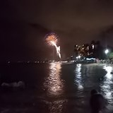 Evening fireworks on Waikiki
