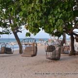 Relaxing swings on the beach