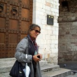 Marcella is our guide for Assisi, Italy