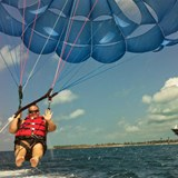 Me parasailing on Castaway Cay