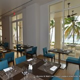 The buffet offers indoor and outside seating