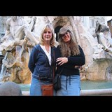 Fountain of Four Rivers-My friend Tony and I