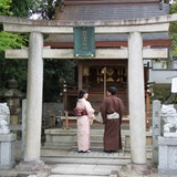 A small shrine within Yasaka Shrine