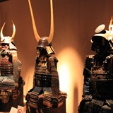 Warrior uniforms at the Samurai Museum.