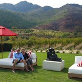 Parents enjoying La Residence - Cape Winelands