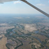 Light Aircraft flight over the Okavango Delta