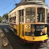 A Lisbon streetcar.