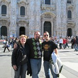 Me with Cousins Federico and Catarina in Milan