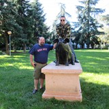 Federico and I with the famous Pig in Parma