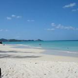 Stunning white beaches all around the island.