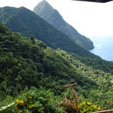 View of a Piton at Jade Mountain