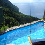 View from private plunge pool at Ladera.