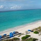 Amazing aqua water and white sand.