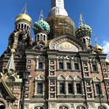 The Church of the Spilled Blood in St. Petersburg.