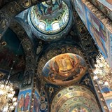 Interior of the Church of the Spilled Blood.