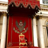 The Romanov Throne in the Hermitage Museum.