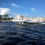 A hydrofoil on the Neva River, St. Petersburg.
