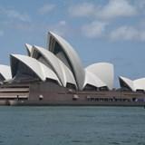 Sydney Opera House during coffee cruise