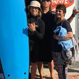 After our surf lesson.