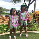 The girls were looking for Moana at the Luau.