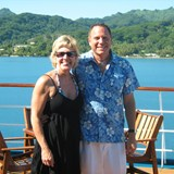 With the cruise director of the Paul Gaugin