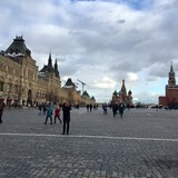 Red Square - Kremilin right, St Basils at the end