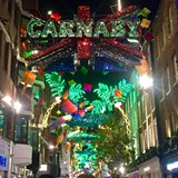 Carnaby Street, London at Christmas