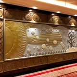 A stunning piece of artwork on Queen Mary 2