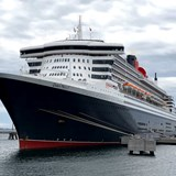 Queen Mary 2 moored in Sept-Iles, Quebec