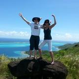 Sue and Barbi on Bora Bora