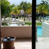 Balcony to the pool