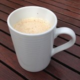 Relax on deck with a hot cup of coffee
