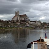 Arriving in Auxerre by Canal Barge