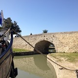 It can be a tight squeeze for your canal barge!