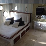 A comfortable private stateroom on your barge