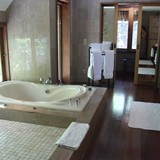 Bath at the St. Regis overwater bungalow