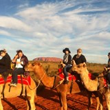 Camel ride to the Ayers Rock