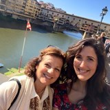 Firenze with my daughter Kristin