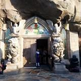 Front doors of Beauty & the Beasts castle!