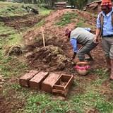 Making clay bricks in Misminay