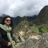 Sonia surveying Machu Picchu
