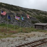 US/Canada Border near Skagway, Alaska