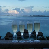 Sofitel Private Island with champagne
