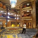 Atrium inside the Disney Dream Cruise Ship
