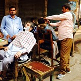 Old Delhi, I was next for the shave!