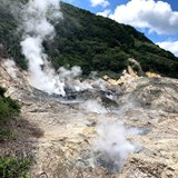 Volcanic steam in St. Lucia