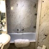 Marble bathroom on Windstar Cruises