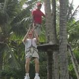 Ziplining at the Melia Caribe Tropical